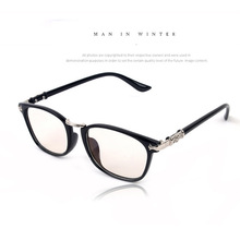 New fashion trend plain mirror glasses frame glasses myopia metal frame factory direct pc 2372