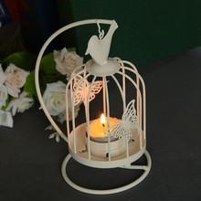 European idyllic style wrought iron bird cage candelabra ornaments home living room decorative fashion retro gift