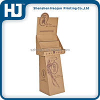 High quality corrugated cardboard pop floor display stand pallet display dump bins for brand liquor