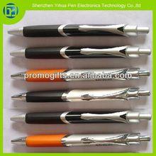 2013 Hot Rubber grip metal triangular pens,metal triangular pens with rubber grip
