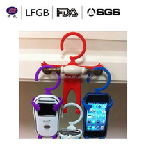 New fashioned creative design 3D cartoon retractable cell phone holder / tripod holder for cell phone