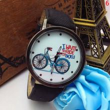 Unisex New different color fashion Quartz lady watch leather wrist watch vogue women