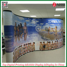 3x3 Curved PVC Pop Up Display Stand