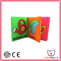 Over 20 years experience washable fabric english baby learning book