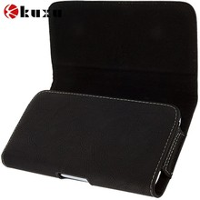 luxury Black Leather Belt Clip Flip Pouch for Samsung Galaxy Note 2,customize mobile phone case cover