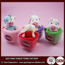 wholesale swiss roll and lollipop cotton cake gift towel for wedding and birthday party
