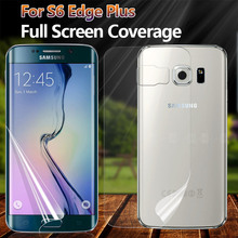 2015 New Design Full Cover Front and Back Anti Shock Screen Protectors for Samsung Galaxy S6 Edge Plus Screen Protector Film
