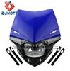 YM-024-BU Blue Universal LED Motorcross MX ENDURO dirt trail bike 250cc motorcycle led head lamp