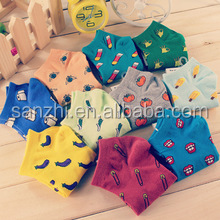 New Style Candy Pure Color Creative Fruits Cotton Socks Anti-Odor Wicking Personality trend Cotton Leisure Socks