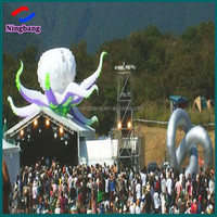 NB-OT2007 NingBang LED light inflatable hanging octopus,wonderful for party and bar decoration