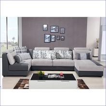 City style L-shape sofa fabric sofa lounge three seats corner sofa
