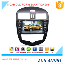 car radio dvd player with gps map download/bluetooth/TV/touch screen for NISSAN TIDA AUTO 2011