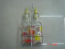 Art design glass cruet for oil and vinegar