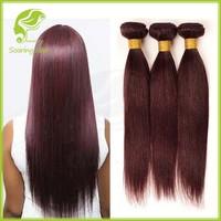 3 Bundles Beautiful Short New Red 99J Brazilian Hair Weave