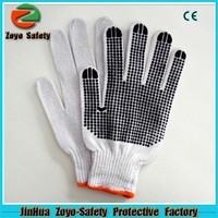 Hand protection PVC Dotted Cotton Work Industrial Safety Gloves