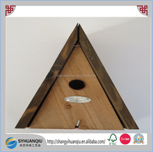 WOODEN A-FRAME NESTING BOX BLUE TIT BIRD HOUSE - ESSCHERT DESIGN