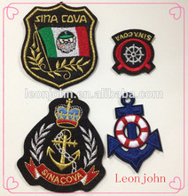 Elegante tejido insignia/etiqueta tejida/insignia del bordado