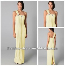 Sheath Chiffon Ankle-length One Shoulder Sleeveless Party Dress