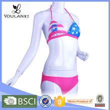 Customized LOGO Brocade Women Customized Hot Micro Bikini