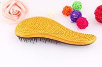 2015 Hot Wholesale Fashion Mixed Color rhinestone paddle brush for salon