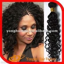 2015 wholesale natural woven curtain deep wave brazilian hair weft