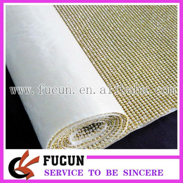 Aluminium rhinestone mesh plating gold color.jpg