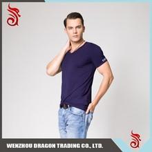 China New Design Popular 100% Cotton Men Long Sleeves Collar T-Shirt