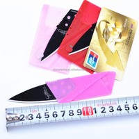 Min card pocket knife with stainless steel red, pink, rose