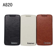 Lenovo s820 a820 leather case stand flip cover case for Lenovo S820 A820