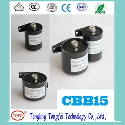 TOFO high stability factory price CBB15/CBB16 capacitor Welding Inverter Capacitor with white case