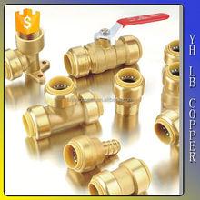 Lead free brass A Plastic quick push lock mini size hose fitting push fit fitting