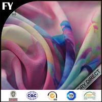 100% custom digital floral printed silk georgette fabric