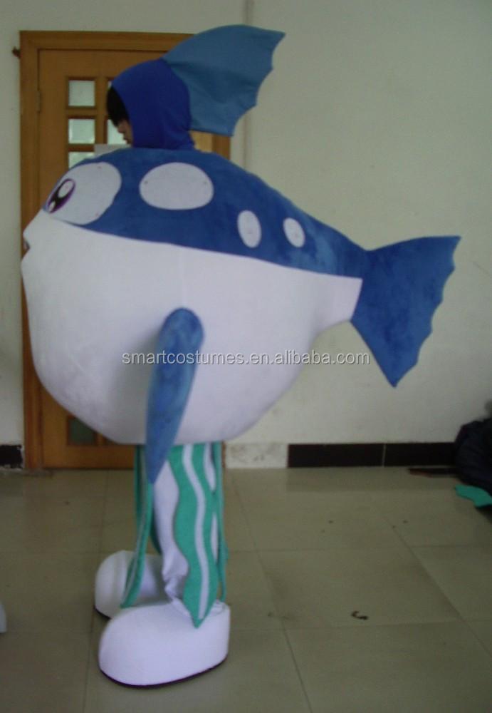 New nice adult puffer fish mascot costume for Puffer fish costume