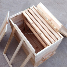 newest cheapest solid wood langstroth bee hive accept customize from Henan Baichun