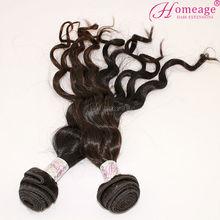 homeage grado brasileña del pelo humano extensiones de niña de la naturaleza del cabello tejido