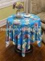 180cm decorativa redonda de vinil tecido de algodão toalha de mesa