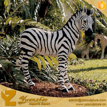 ourdoor life size resin character animal zabra statue for garden decoration
