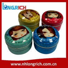 hot sale decorative printed mini tin box with chain