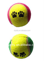 Variety of colors tennis ball toy