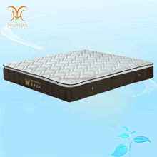 King Size Modern bedroom furniture Latex Pocket Spring Mattress With Bamboo Cover