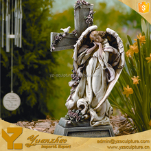 life size for resin sleeping angel statue with wings for garden decoration