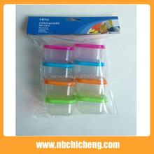 8pcs Mini Plastic Storage Food Container Crisper