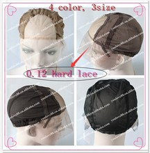 4 color Size Medium Lace cap Lace Front Wig Base Glueless Wig Cap with strap, comb. lace cap for wig making, adjustable wig cap