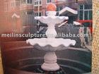 Mármore branco mão esculpida jardim fonte de água bola