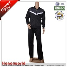 100% polyester tracksuits / 100% polyester man sport set / 100% polyester training suit