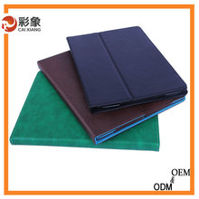 High quality Leather Case for Apple iPad 4 with magnet for Sleep & Awake Function