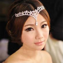 Hign quality crystal hair chain bridal wedding forehead jewelry/indian bridal hair jewelry/indian forehead jewelry