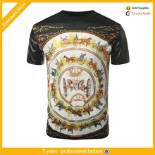 custom t shirt leather sleeves for sublimation printing