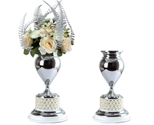Pastoral style hand-painted floral vase is inserted metal home accessories gifts JHF14-2315C