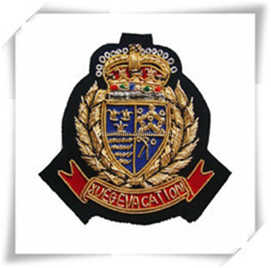 2016 new red color lion embroidery blank patches,custom embroidery patches.jpg